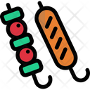 Meat Ball Barbecue Icon