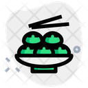 Meat Buns Chopsticks Icon