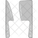 Cleaver And Knife Meat Cleaver Butcher Knife Icon
