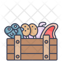 Meat Crate Meat Food Icon