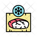 Frozing Meat Color Icon