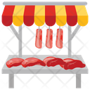 Meat Stall Icon