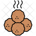 Meatballs Cooking Meal Icon