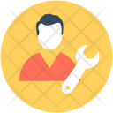 Mechanic Repair Man Icon