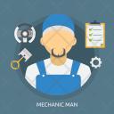 Mechanic Man Car Icon