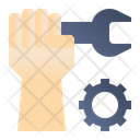Mechanic Wrench Gear Icon