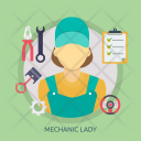 Mechanic Lady Car Icon