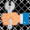 Mechanic Hand Wrench Icon