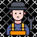 Mechanic Plumber Worker Icon