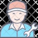 Mechanic Repairman Worker Icon