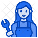 Mechanic Worker Woman Occupation Female Icon