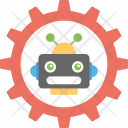Mechanical Robot Humanoid Icon