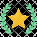 Wreath Star Medal Icon
