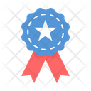 Ribbon Badge Independence Day Icon