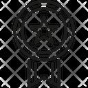 Ribbon Decoration Usa Icon