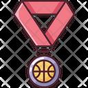 Medal Win Basketball Icon