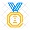 Golden Medal Color Icon