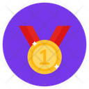 Medal Number One Medal Ribbon Medal Icon