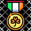 Medal Clover Shamrock Icon