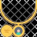 Medallion Pendant Necklace Icon