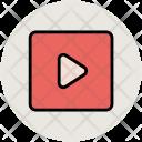 Media Play Button Icon