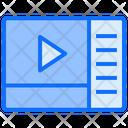 Media Playlist Multimedia Icon