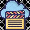 Cloud Computing Clapper Multimedia Cloud Icon