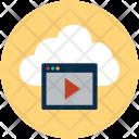 Media Cloud Multimedia Icon