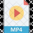 Media File Movie Mp 4 Icon