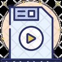 Media File Video File Media Storage Icon