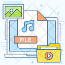 Media File Songs File Songs Folder Icon