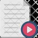 Media File Multimedia Storage Video Document Icon