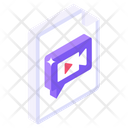 Media File Video File Video Content Icon