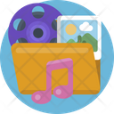 Creative Design Folder Multimedia Icon