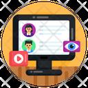 Social Media Monitoring Media Monitoring Profiles Monitoring Icon