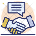 Media Partner Social Partner Partners Handshake Icon