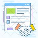 Partners Handshake Handclasp Icon