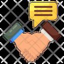 Media Partner Handshake Handclasp Icon