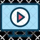 Media Play Video Monitor Icon