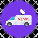 Journalist Bus Journalist Van Live Broadcast Icon