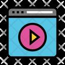 Internet Play Video Icon