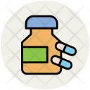 Medical Drugs Capsules Icon
