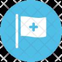 Medical Flag Healthcare Icon