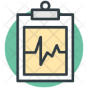Medical Report Heartbeat Icon