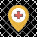 Hospital Location Navigation Icon