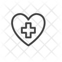 Medical Aid Heart First Aid Kit Icon