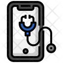 Medical App Online Medical Checkup Stethoscope Icon