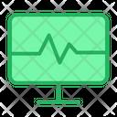 Application Computer Cardiogram Icon