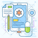 Online Healthcare Medical Application Healthcare App Icon