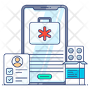 Emergency Services Online Healthcare Online Pharmacy Icon